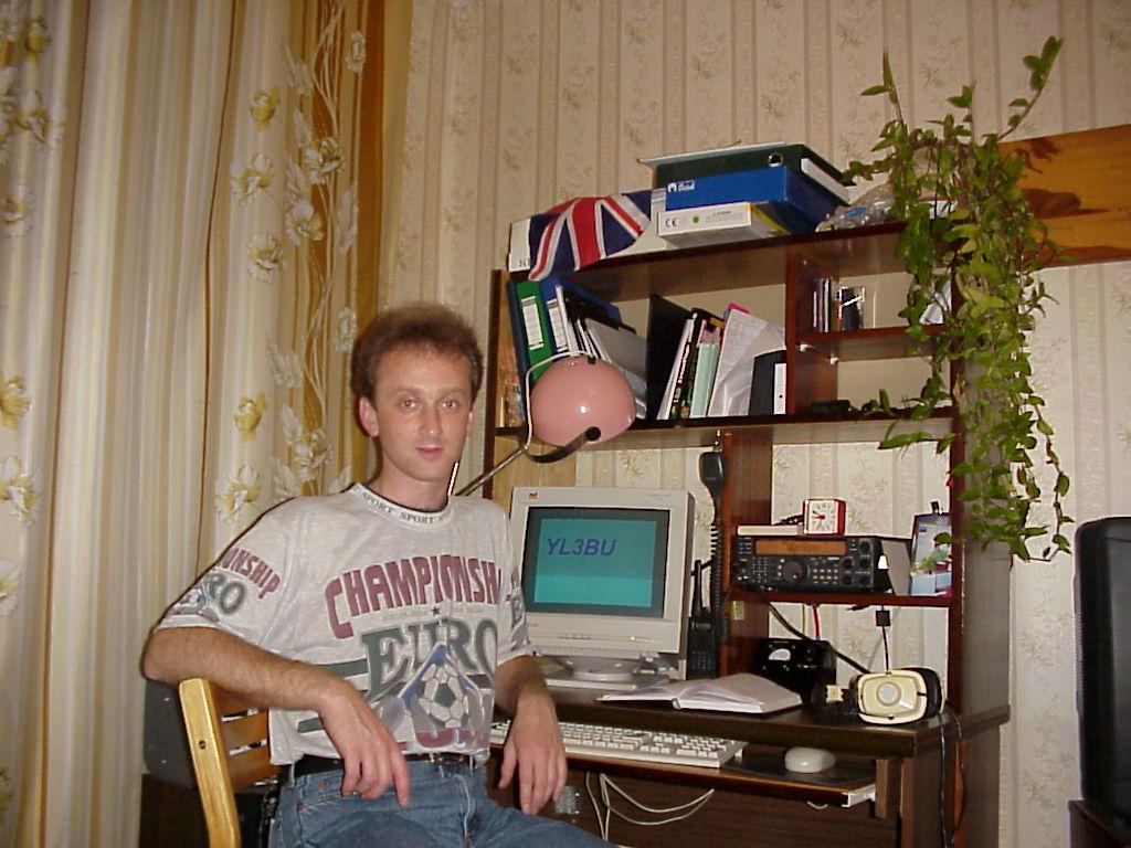 Alex YL3GBU in 2000