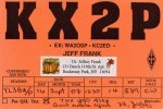 Jeff Frank KX2P QSL. Thanks Jeff for QSO and good signal raport. GL and 73! de Alex, YL3BU